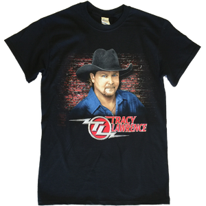 Tracy Lawrence Black Close Up Photo Tee