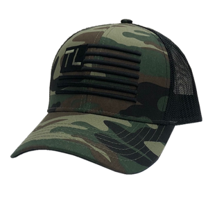 Tracy Lawrence Camo and Black Flag Ballcap