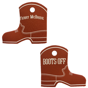 Terry McBride Texas Orange Boot Coolie