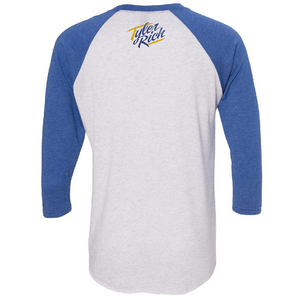 Tyler Rich Heather White and Royal Raglan Tee