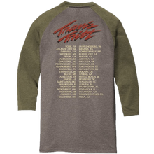 Load image into Gallery viewer, Travis Tritt Military Green and Grey Frost Raglan Tee
