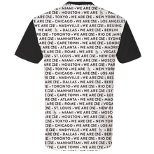 Load image into Gallery viewer, We Are One Black ONE w/ Cities Tee