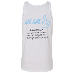 We Are One All Lives White Tank