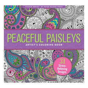 Peaceful Paisleys Artist's Colouring Book