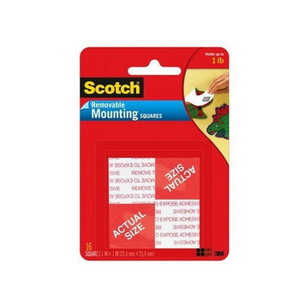 "3M Scotch 1"" X 1"" Removable Mounting Square"