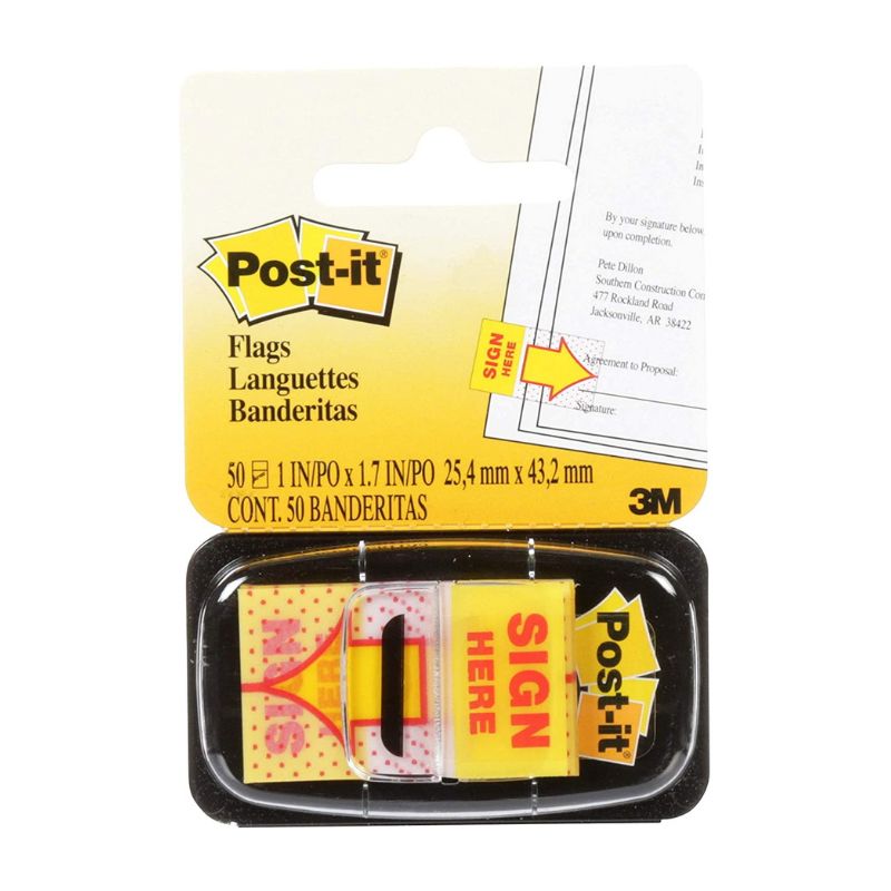 3M Post-it Sign Here Tape Flags