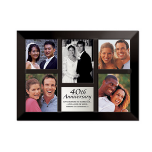 40th Anniversary Photo Frame Collage