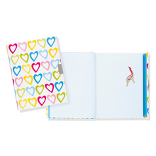 "Load image into Gallery viewer, Hearts Locking Journal - 6"" x 8"""