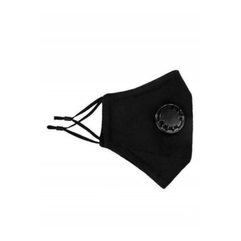 Adjustable Cloth Mask with Breathing Valve and Filter