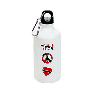 Aluminium Sublimation Water Bottle - Trini, Peace, Love