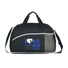 Load image into Gallery viewer, Autism Awareness Athletic Polyester Duffel Bag - Multiple Designs!