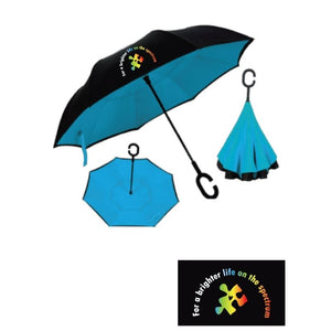 Autism Awareness Inverted Umbrella