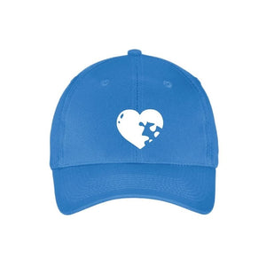 Autism Awareness Six Panel Twill Cap - HEART
