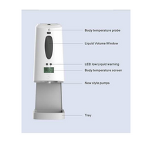 Load image into Gallery viewer, Automatic No Touch Temperature and Sanitizer Dispenser Station