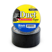 "Load image into Gallery viewer, BAZIC 1.88"" X 10 Yards Black Duct Tape"