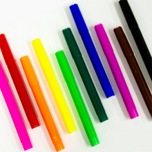 Load image into Gallery viewer, BAZIC 10 Classic Colours Broad Line Jumbo Washable Markers