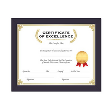 "Load image into Gallery viewer, BAZIC 11"" X 14"" Multipurpose Certificate Frame w/ Glass Cover"