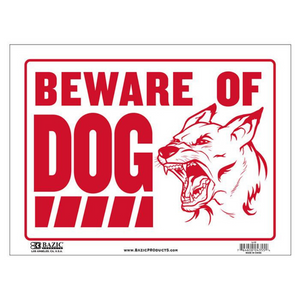 "BAZIC 12"" X 16"" Beware of Dog Sign"
