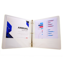 "Load image into Gallery viewer, BAZIC 1"" White 3-Ring Tinted View Binder w/ 2-Pockets"