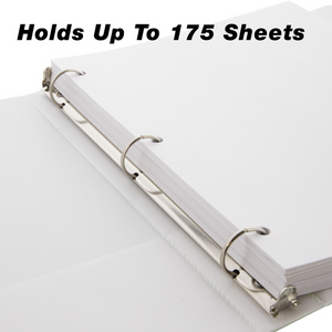 "BAZIC 1"" White 3-Ring Tinted View Binder w/ 2-Pockets"