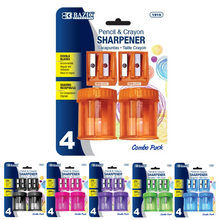 Load image into Gallery viewer, BAZIC 2 Dual Blades Sharpener + 2 Round Receptacle Sharpener