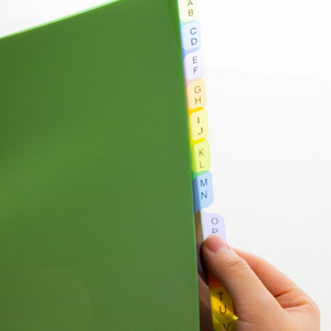 BAZIC 3-Ring Binder Dividers w/ 12-Preprinted A-Z Tab