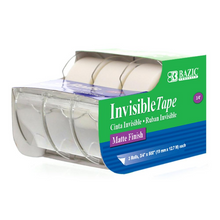 "Load image into Gallery viewer, BAZIC 3/4"" X 500"" Invisible Tape (3/Pack)"
