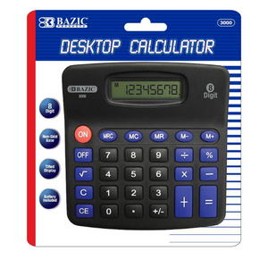 BAZIC 8-Digit Desktop Calculator