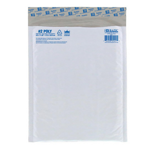 "BAZIC 8.5"" x 11.25"" (#2) Poly Bubble Mailer"