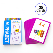 Load image into Gallery viewer, BAZIC Alphabet Preschool Flash Cards (36/Pack)