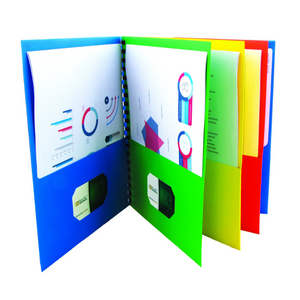 BAZIC Assorted Colour 8-Pockets Folder