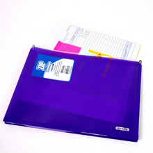 Load image into Gallery viewer, BAZIC Assorted Colour Letter Size Zip Envelope