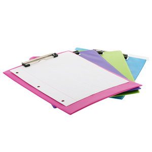 BAZIC Bright Colour PVC Standard Clipboard w/ Low Profile Clip