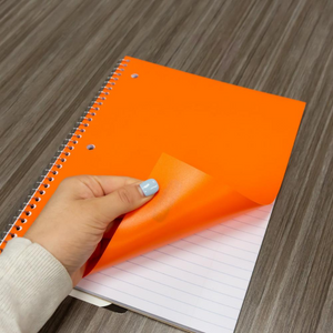 BAZIC College Ruled 70 Sheets 1-Subject Poly Cover Spiral Notebook
