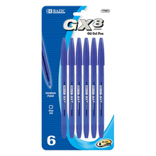 Load image into Gallery viewer, BAZIC GX-8 Blue Oil-Gel Ink Pen (6/Pack)