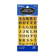 Load image into Gallery viewer, BAZIC Gold Foil Alphabet Label (378/Pack)
