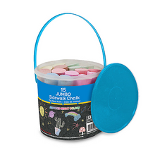 Load image into Gallery viewer, BAZIC Jumbo Color Chalk (15/Bucket)