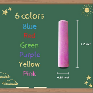BAZIC Jumbo Color Chalk (15/Bucket)