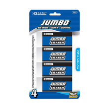 Load image into Gallery viewer, BAZIC Jumbo Eraser (4/Pack)