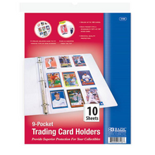 Load image into Gallery viewer, BAZIC Top Loading 9-Pockets Sports Card Holder (10/Pack)