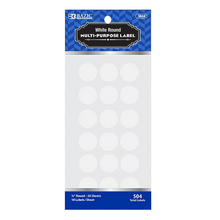 "Load image into Gallery viewer, BAZIC White 3/4"" Round Label (504/Pack)"