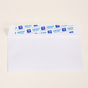 BAZIC #6 3/4 Self-Seal White Envelope (65/Pack)