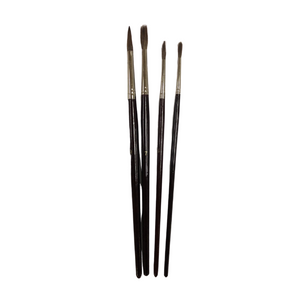 Round Brown Bristles Long Handle Paint Brush