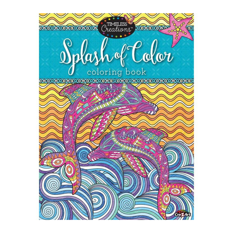 Cra-Z-Art Splash of Colour Adult Colouring Book