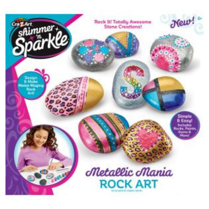 Cra-Z-Art Shimmer 'N Sparkle Metallic Mania Rock Art