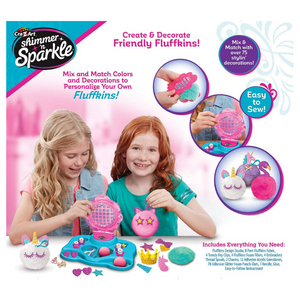 Cra-Z-Art Shimmer 'N Sparkle Make Your Own Fluffkins Design Studio