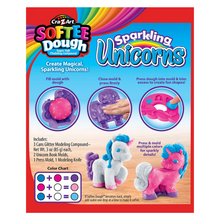 Load image into Gallery viewer, Cra-Z-Art Softee Dough™ Sparkling Unicorn Playset