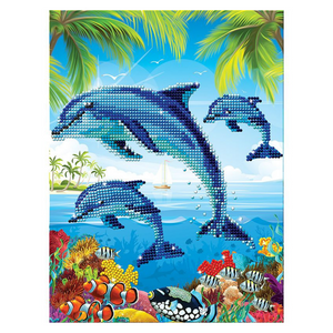 Cra-Z-Art Diamond Art Jewel by Numbers - Dolphins