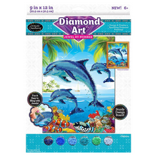 Load image into Gallery viewer, Cra-Z-Art Diamond Art Jewel by Numbers - Dolphins