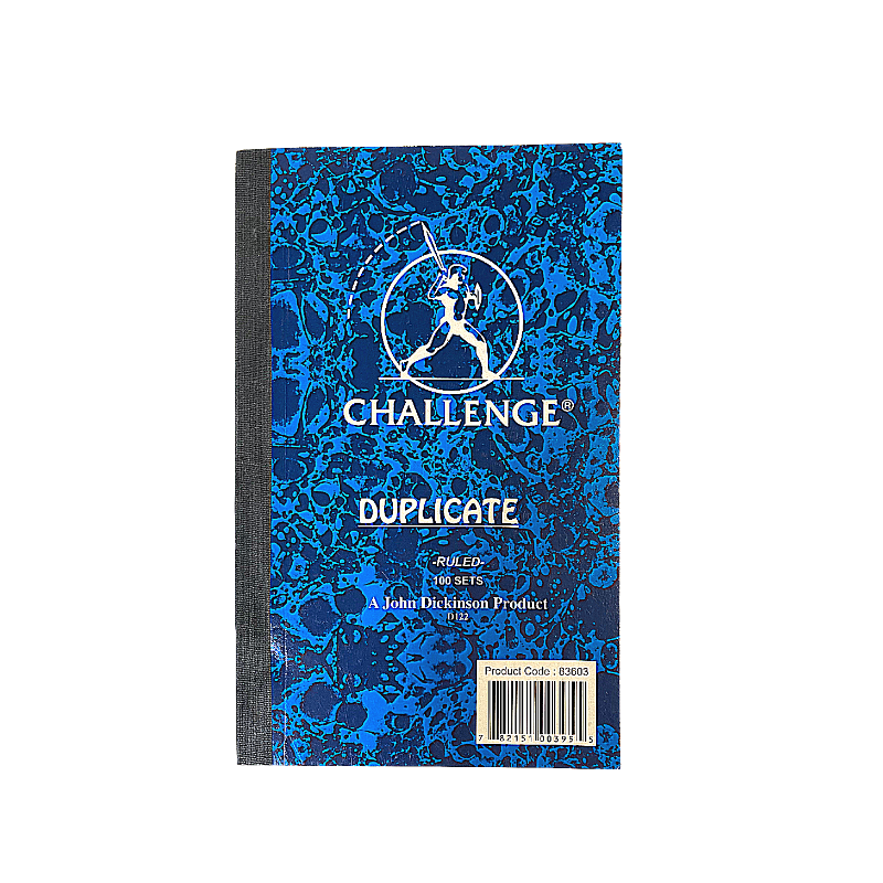 Challenge 8 x 5 Ruled Duplicate Book (100 Sheets)